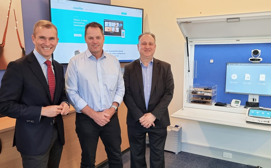 Photo of Rob Stokes MP at the Visionflex Sydney HQ